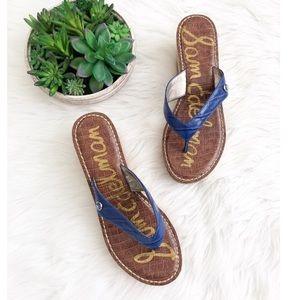 Sam Edelman Blue Wedge Sandals